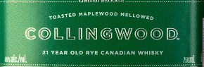 New Booze: Collingwood Limited Edition 21-Year-Old Rye